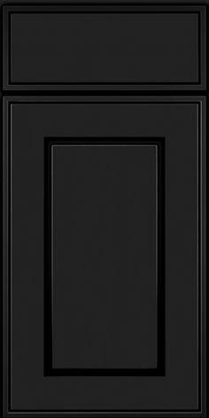 Square Raised Panel - Solid(AB1M6) Square Onyx - KraftMaid