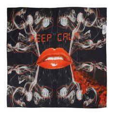 Keep Calm // silk/cotton scarf // Art Collection Katja Filipovich for hüftgold berlin // Spring 2015
