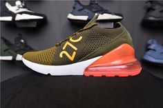 Nike Air Max 270 Flyknit Mens Shoes AO1023-101 Green Red on www.max270us.com 34559e3a9