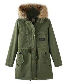 Fur Collar Hooded Long Parka