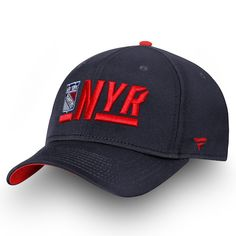 01ce9bb1e08 New York Rangers Fanatics Branded Authentic Pro Rinkside Alpha Adjustable  Hat Navy Red  NewYorkRangers