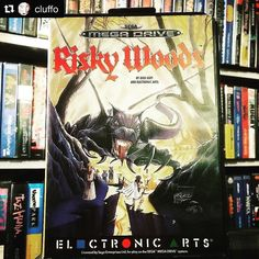 #Repost @cluffo with @repostapp  Some great box art on Risky Woods for the Megadrive. #riskywoods #sega #segagram #igerssega #ea #megadrive #segagenesis #electronicarts #gamer #retrogamer #retrogames #retrocollective #retrocollectiveeurope