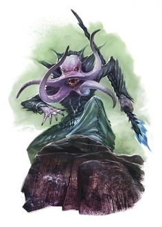 via - AP(GM), JF, Mira, Guru DAY 247 Uktar)(November) cont . Cthulhu, The Elder Scrolls, Character Inspiration, Character Art, Character Design, O Kraken, Dungeons And Dragons Races, Creature Picture, Mind Flayer