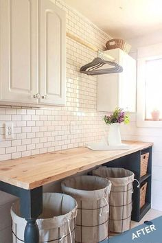 Mudroom Laundry Room, Laundry Room Remodel, Farmhouse Laundry Room, Laundry Room Organization, Laundry Room Design, Farmhouse Decor, Laundry Room Layouts, Modern Farmhouse, Laundry Room Folding Table