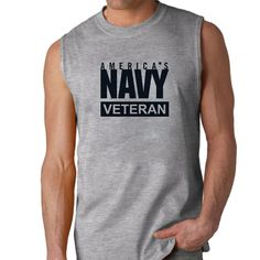 Officially Licensed U.S. Navy Veteran Sleeveless Shirt now available! The Navy Service is a 100% Polyester Gildan sleeveless shirt will keep you cool and dry all year long. Let your biceps breathe and show your military pride at the same time! Designed & Sublimated in the USA.