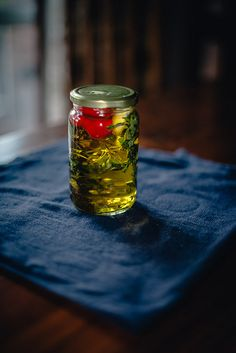 Infused Olive Oil (Thyme + Sage + Chili + Garlic) | alanabread
