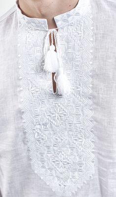 Вишиванка чоловіча на білому льоні з білою вишивкою арт. 644-13 09 купити в  Україні і Києві - відгуки 7818cb36620c6