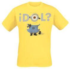 """Minions T-shirt """"Idol?"""" gul • EMP"""