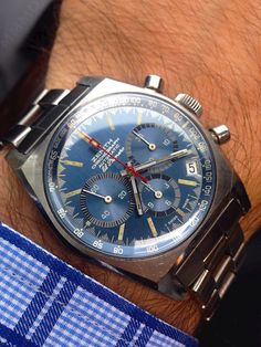 Vintage Zenith El Primero Chronograph In Stainless Steel Circa 1970s