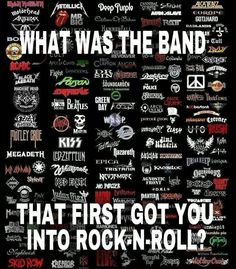 Bon Jovi first got me into rock but Metallica is what got me into heavy metal. That's all I listen to now. Fav band m/