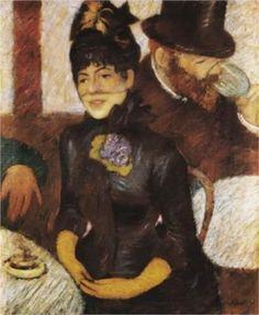 ~ Federico Zandomeneghi ~ Italian artist, 1841-1917: The cafe