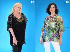 Blusas para gorditas verano 2016 de Loren – Talles especiales