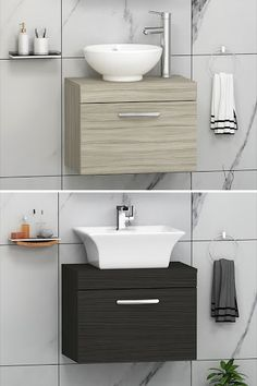 Clean floor, style and discipline can be find in this range of wall hung vanity units. Get your perfect solution now! ............................................................................................................................................#VanityUnit #BathroomDesign #WallHunngStorageUnit