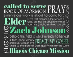 Custom Personalized LDS Missionary Gift by ljcDigitalDesigns