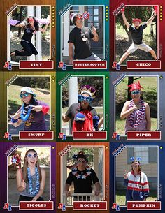 Summer Camp Trading Cards--These are so fun, you could put info about each counselor or staff on the back so campers get to know you!