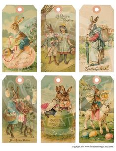 Items similar to Vintage Shabby Easter Bunnies Chick Children Book ACEO card Labels Tea Party gift Hang Tags Digital Collage Sheet clip art Images on Etsy Easter Art, Easter Bunny, Easter Crafts, Happy Easter, Easter Decor, Party Vintage, Vintage Easter, Vintage Cards, Vintage Style