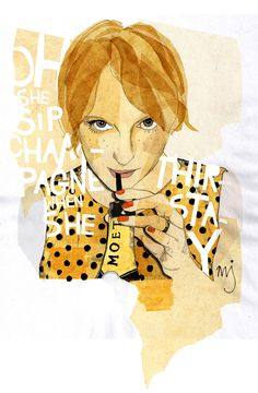 Oh, she sip Champagne when she thirstay! - Milly Jackson Illustration