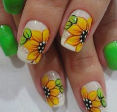 Spring Nails Most Beautiful And Elegant Spring Nail Art Design 30 Most Beautiful And Elegant Spring Nail Art Design 30 Nail Art Designs 2016, Flower Nail Designs, Simple Nail Art Designs, Nail Designs Spring, Cute Nail Designs, Trendy Nail Art, Cute Nail Art, Easy Nail Art, Cute Nails