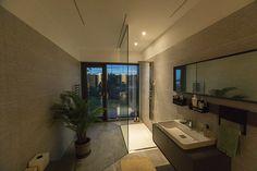 Corner Bathtub, Exterior, Bathroom, Modern, Design, Interiors, Washroom, Trendy Tree, Corner Tub