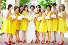 Love the yellow with pink shoes but maybe would like royal blue...with a different color show...maybe