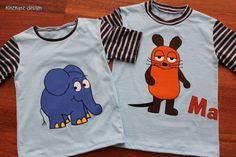 Elefant & Maus Shirts, Größe 110 & 128