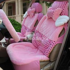 New Arrival Pretty Pink Color Angel's Wing High Quality Soft Seat Covers