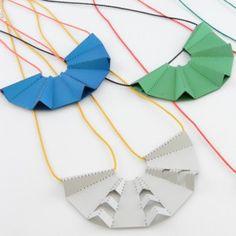 Soya Entry: Fold Pendants-Jessamy Pollock. Wonder how these would go in porcelain.....