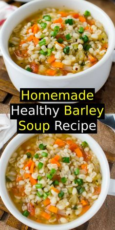 A perfect option to add whole grains to your diet. Ready to enjoy in about 30 mins. Quick Dinner Recipes, Quick Meals, Chowder Recipes, Soup Recipes, Healthy Soup, Healthy Recipes, Barley Soup, Cabbage Recipes, Ground Beef Recipes
