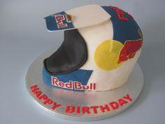 RedBull motocross helmet cake