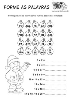Forme palavras Natal! Christmas Tree Poster, Paper Toys, Diagram, Kids, Professor, Christmas Activities, Kids Learning Activities, Synonyms And Antonyms, Vertebrates