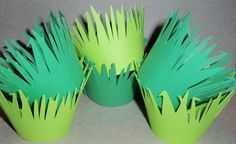 48 – Cupcake Wrappers – Cardstock – Grass (Green, Lime) (Wedding, Birthday Party, Jungle Theme, Safari, Shower, Forest). $24.00, via Etsy. | followpics.co