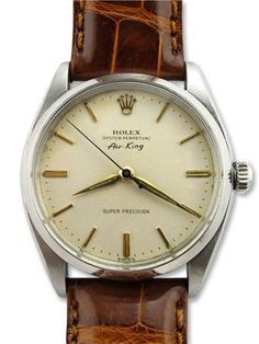 Vintage Watches Collection : To know more about ROLEX Air-King Leather band visit Sumally a social network that gathers together all the wanted things in the world! Featuring over 1107 other ROLEX items too! Vintage Rolex, Vintage Watches, Retro Watches, Luxury Watches, Rolex Watches, Diamond Watches, Rolex Gmt, Cool Watches, Watches For Men