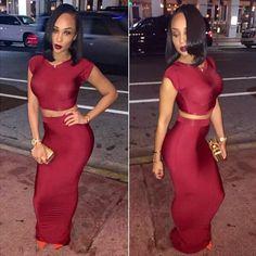 2018 Sexy Red Two Piece Badycon Dress Hip Tight Set Women 2016 Wine Bandage  Vestidos Vest Top Backless Nightclub Badycon Dresses From Sinofashion 327c01503