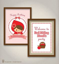 Sweet Little Red Riding Hood Essentials Party by shopPaperholic
