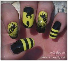 Wu Tang Killa Bees by Sinful - Nail Art Gallery nailartgallery.nailsmag.com by Nails Magazine www.nailsmag.com #nailart