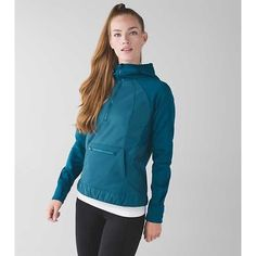 Lululemon Let's Get Visible Hoodie Super cute and flattering jacket! The Polar fleece makes it very warm and there are zipper vents for cooling down while you're running. This jacket is also reflective which is perfect for you night and early morning runners! Color is called Alberta Lake--it's a dark teal color! lululemon athletica Jackets & Coats