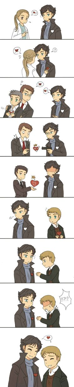 Awwww!! I don't ship Johnlock but this is sooooooo sweet O:-)