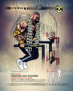 chest exercise: chest dips chains powerbro
