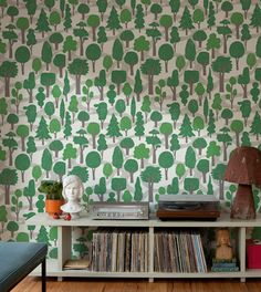 This would fit so perfectly in the kids' room ---makelike (a shop) Zig Zag Wallpaper : Green