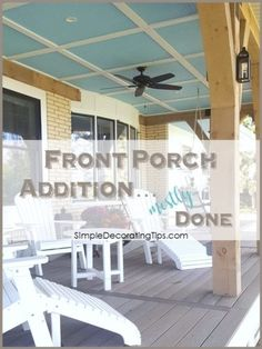 Carpenter Trick to Repair Furniture, HometoCottage Collapsible Dog Crate, Front Porch Addition, Brick Cottage, Small Front Porches, Crate Cover, Small Wood Projects, Exposed Brick, Decorating Tips, Pergola