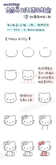 How to draw a good HelloKitty, chrysanthemum people grow up from a matrix @