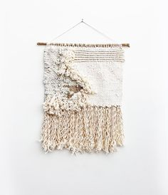 This beautiful handmade tapestry would be perfect hanging in a nursery. Learn to weave something of your own with one of Hello Hydrangea's online video classes. Tapestry Weaving, Loom Weaving, Hanging Tapestry, Wall Tapestry, Hand Weaving, Macrame Wall Hanging Diy, Weaving Wall Hanging, Wall Hangings, Weaving Projects