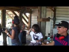 Romy shoots and explodes tire - Happy Fathers Day! - YouTube