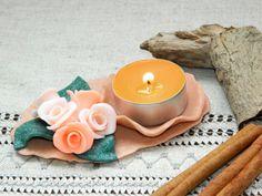 Clay candle holderCeramicPotterycandle by CuteThingsOnEtsy on Etsy, $17.00