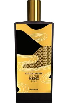 Italian Leather Memo for women and men Top notes are tomato leaf, vanilla and leather; middle notes are labdanum, clary sage, galbanum, tomato leaf and orris root; base notes are vanilla absolute, sandalwood, tolu balsam, opoponax, myrrh, benzoin, leather and musk.
