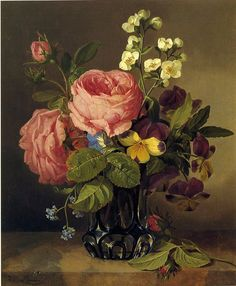 Josef Lauer  Still Life with Flowers  1850