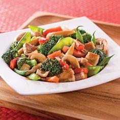 Sauté de porc et légumes à l''asiatique - Soupers de semaine - Recettes 5-15 - Recettes express 5/15 - Pratico Pratique