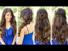 These hairstyles are perfect for when your in a rush but still want to look nice. If you use your natural hair these hairstyles take no time and involve no heat!!