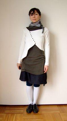 another asymmetrical cardigan