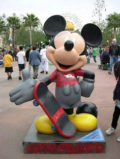 Mickey bout. Ready. To. Bust. A. Move. On. His. Skate. Board ;-$